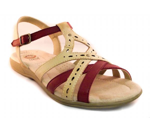 Earth spirit biscuit multi leather summer comfort sandal.